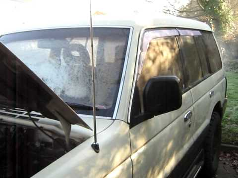 4x4 Mitsubishi Pajero cold start and viewing