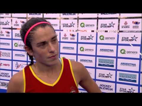 Post Match Interview Rocio Ybarra #HWL2015 Valencia