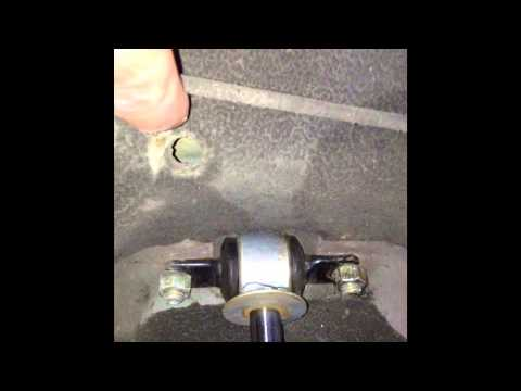 Jeep Cherokee Xj Rear Upper Shock Bolt Fix Youtube