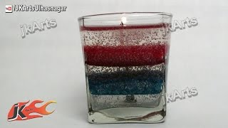 How to make Layered Gel Candle | JK Arts 463