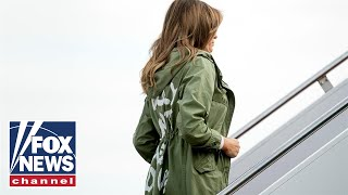Melania wears 'I really don't care' jacket to detention center