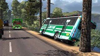 SETC Maruti bus overtaking fail | Reckless driving | Euro truck simulator 2 with bus mod