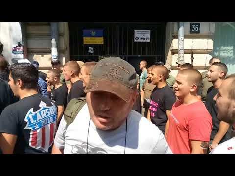 Митинг против РГБ и ее лидера в центре Одессы. Марк Гордиенко