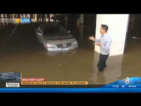 Man has a bad day during El Niño in SoCal