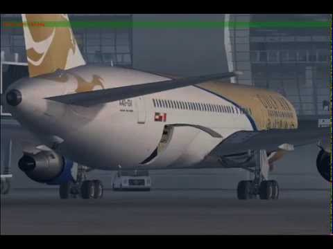 FS9 - Gulf Air B767 from Dubai to Vienna