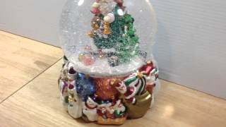"Christopher Radko Vintage Santa Limited Edition Musical Snow Globe Numbered ""Happy Holidays"""