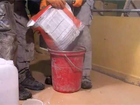 Lagning av betonggolv i grisstallar