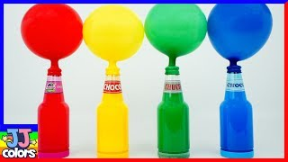 Learn color with Color Balloon & Bottle Animal Toothbrush nursery rhymes [JJ colors]