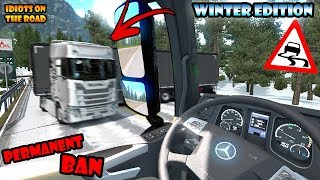 ★ IDIOTS on the road #54 - ETS2MP   Funny moments - Euro Truck Simulator 2 Multiplayer