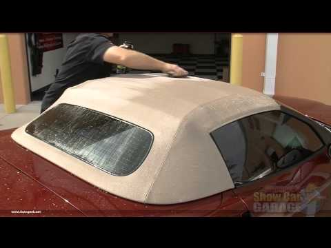 Mike Phillips demonstrates how to properly protect your canvas or vinyl convertible top.