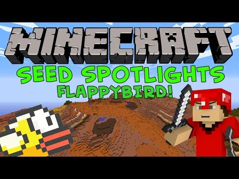 Minecraft 1.7.4 Seed Spotlight: FLAPPY BIRD SEED! MESA SPAWN! 3 DUNGEONS!