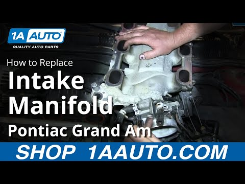 How To Install Replace Upper Intake Manifold Plenum GM 3.4L V6 Pontiac Grand Am Olds Alero