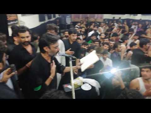 Sharafat Ali Pardesi -  Live Noha Mehman Bana Kay Lut Liya