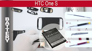 How to replace 🔧  🔋 📱 Battery HTC One S z520e, z560e Tutorial