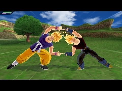 Fusion Goku GT and Vegeta GT in Super Saiyans VS Vegeto (DBZ Tenkaichi 3 Mod)
