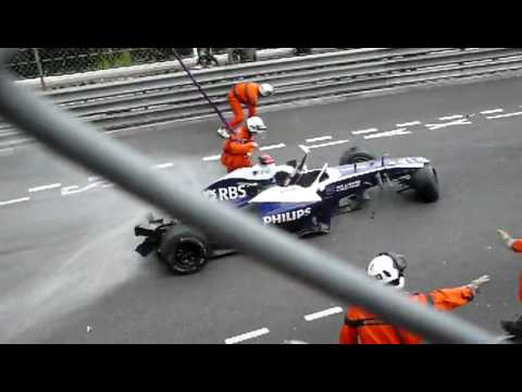 Barrichello Crash - Monaco Grand Prix (Formula 1 2010)