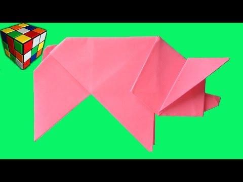 Как сделать свинку из бумаги: варианты идей и мастер-классы со схемами