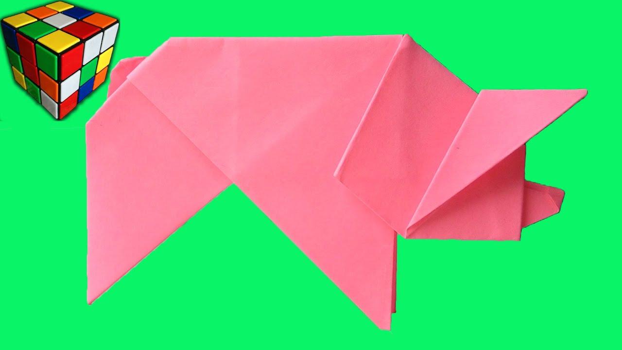Свинка из бумаги своими руками