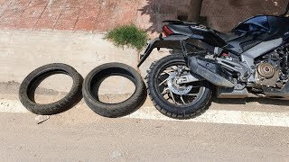 New Tyre for Dominar 400 | Gagan Choudhary