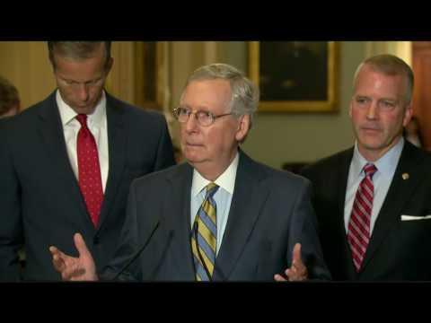 Sen. Dan Sullivan (R-AK) joins Maj. Leader Mitch McConnell for a Press Conference - July 12, 2016