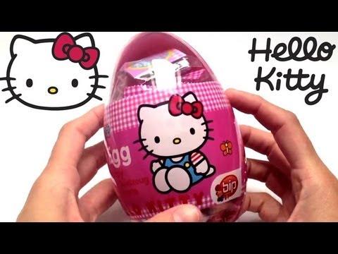 Hello Kitty Surprise Egg Unwrapping. Huevo sorpresa Hello Kitty. Toys Review.