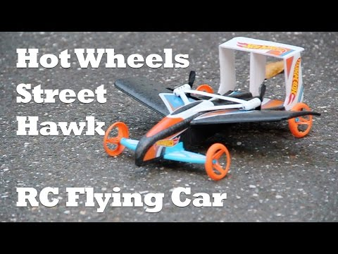 Hot Wheels Street Hawk Remote Control Flying Car Review