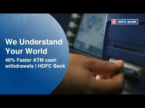 HDFC Bank Commercial -- 40% Faster ATM cash withdrawals