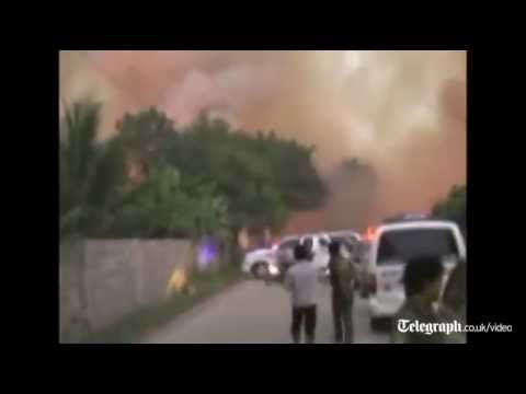 Firework factory in Thailand blows up