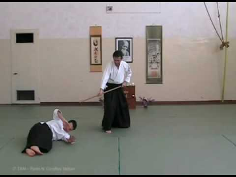 Traditional aikido YONDAN level JO WAZA techniques Image 1