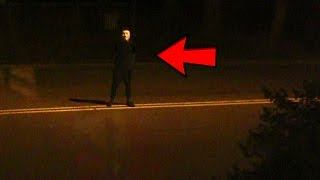 CREEPY GUY STANDS OUTSIDE FAZE HOUSE AT 1AM