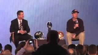 Super Bowl Press Conference   Jim and John Harbaugh Part 1