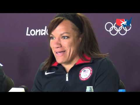 U.S. Olympic Women&#039;s Wrestling Team press conference in London