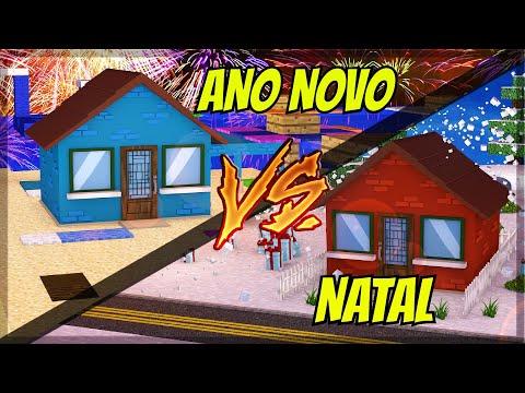 CASA DE ANO NOVO VS CASA DE NATAL NO MINECRAFT