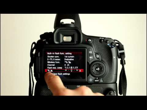 Canon EOS 60D Tutorial Video 3 Part 1 - Flash Control Menu