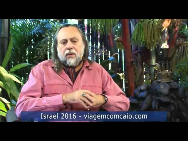 Caio convida para a viagem à Turquia e Israel, que acontecerá em 2016.
