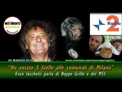 Enzo Iacchetti: «Ho votato MoVimento 5 Stelle alle elezioni comunali a Milano» (25Mag2012)