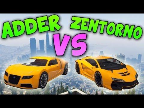 Zentorno VS Adder - ¡¡INCREÍBLE!! - Test de Velocidad - EL COCHE MAS RÁPIDO DE GTA 5 ONLINE 1.13