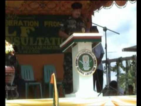 GRP-MILF Peace Talks - Brigadier General Zulkifli bin Mohd Zain Speech
