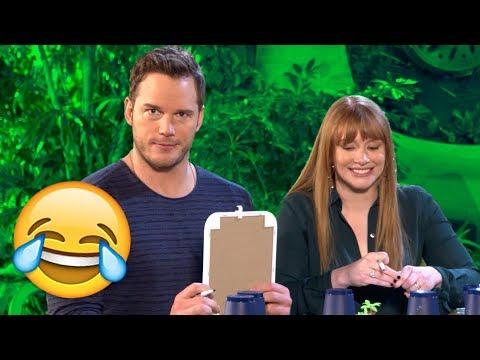 Chris Pratt & Bryce Dallas Howard Take The Ultimate Dinosaur Challenge