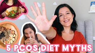 5 DIET MYTHS OF PCOS | Gluten? Dairy? Coffee?