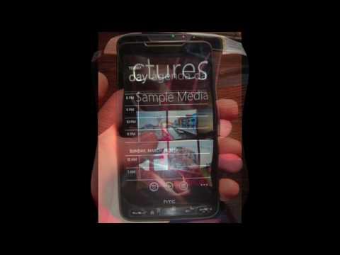 HTC HD2 Running Windows Phone 7