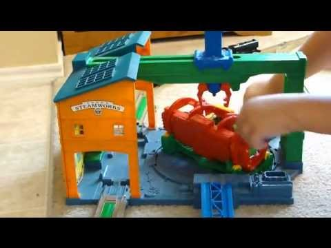 Sodor Steamworks Spin and Fix Thomas Play Set