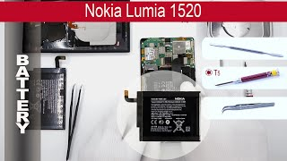 How to replace 🔧  🔋 📱 battery Nokia Lumia 1520 (RM 937, RM 938, RM 939)