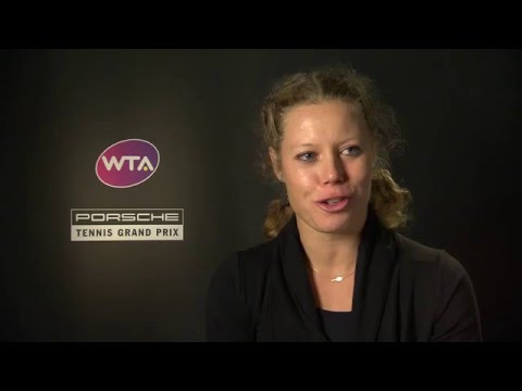 Interview Laura Siegemund (GER) semi finals (in German) - Porsche Tennis Grand Prix 2016