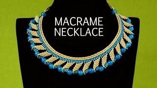 Nefertiti Macramé Necklace Tutorial | Macrame School