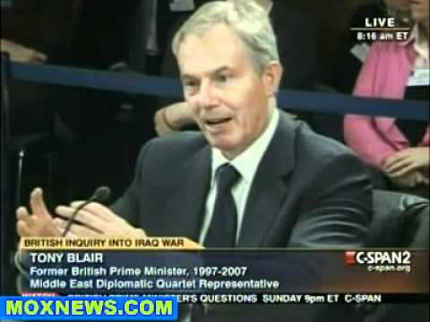 Tony Blair Iraq War Inquiry Jan 21, 2011 pt.3