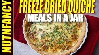 Meals in a Jar: Awesome Quiche  [7 yr Freeze Dried Meal]