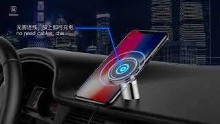 Baseus Car Mount Qi Wireless Charger For iPhone X 8 Samsung Note 8 S8 S7 Fast  1