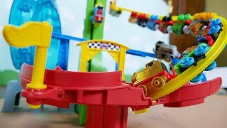"""Thomas and Friends. play MINIS Course. """"Motorized Raceway""""."""