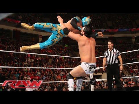 Sin Cara Vs. Damien Mizdow: Raw, February 9, 2015 video